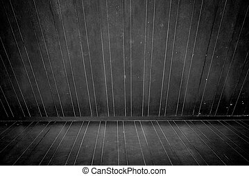 Wooden floor and wall in monochrome style
