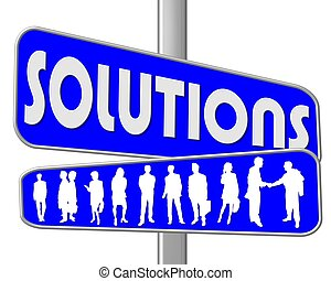 road sign blue solutions