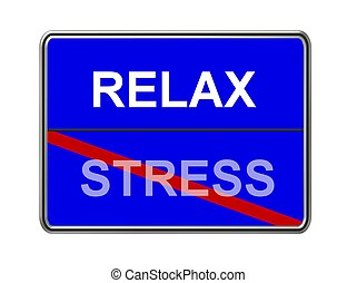 relax - stress