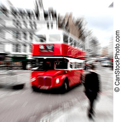 london red bus - red double decker on the streets of London