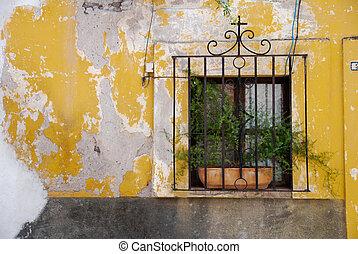 Rustic window, San Miguel de Allende, Mexico - Rustic,...