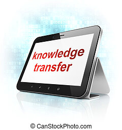 Education concept: Knowledge Transfer on tablet pc computer