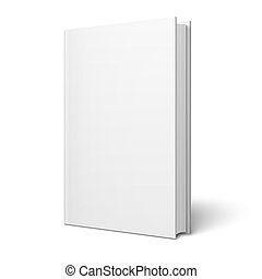 Blank vertical book template. - Blank vertical book cover...