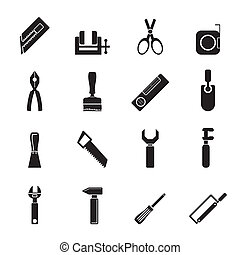 Building and Construction icons - Silhouette Building and...