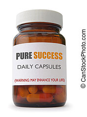 Success - Metaphor for success with capsules inside a...