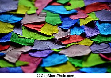 terv, szakadt, művészet, dolgozat, színes