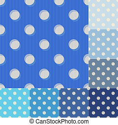 seamless blue polka dots pattern