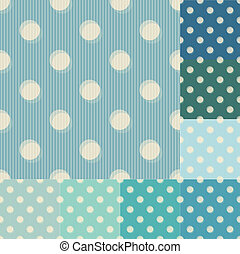 seamless aqua teal dots pattern