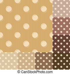 seamless brown polka dots pattern