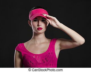 Sexy fashion woman in pink