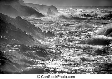 Ocean storm. - Winter storm off the coast of Oregon.