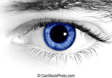Blue eyes - Close up of a mans blue eyes
