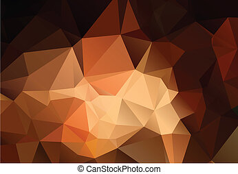 Abstract shades of brown polygonal background