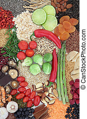Healthy Super Food - Super food selection forming an...