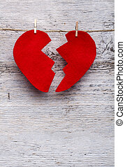 quebrada, Coração