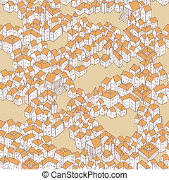 Old City seamless pattern
