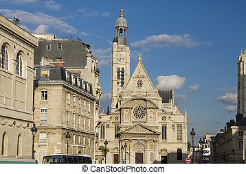 Paris Saint Etienne du Mont - Paris view of the church Saint...