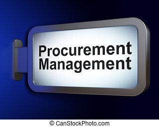 Business concept: Procurement Management on advertising...