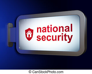 Privacy concept: National Security and Shield on billboard background