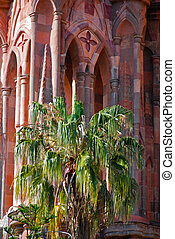 Bell tower, San Miguel de Allende, Mexico. - Bell tower of...
