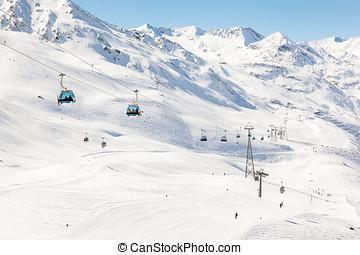 Gondola Lift at Hochgurgl Ski Area