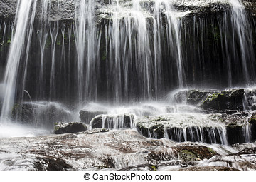 Cascading Water - Close-up of cascading water at Sangara...