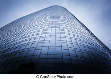 Corporate Headquarters - Large glass office building with...