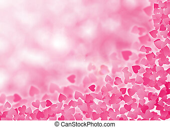 Valentine Hearts Abstract Pink Background. St.Valentine's...