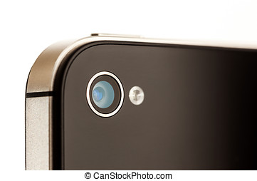 Smartphone Camera Close Up - Close up of a Smartphone Camera