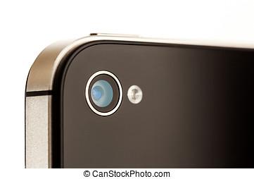 Smartphone, cámara, cierre, Arriba