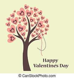 valentine day - a beautiful and colored tree with some text