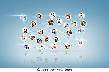 social network - networking concept - social network