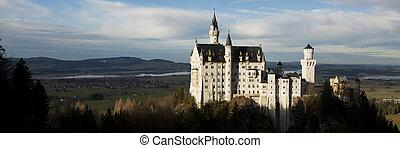 Neuschwanstein Castle in Bavaria - The white castle of...