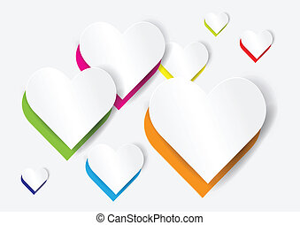 Abstract heart shape - vector