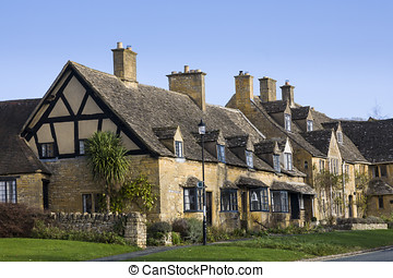 Cotswold cottages - Traditional cottages in a Cotswold...