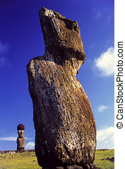 Ahu Tahai Moai Easter Island - Ahu Tahai with two moai...