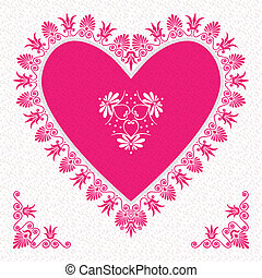 vector pink Valentine's Day Card