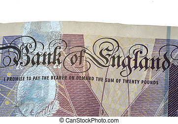 Detail of bank note