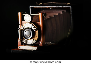 Antique Camera - Antique view Camera with leather bellows