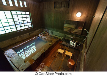 Private Onsen - Traditional Stone Onsen in a Japanese Ryokan