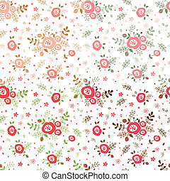 Set of flowers seamless patterns