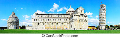 Pisa Tower - Piazza dei Miracoli complex with the leaning...