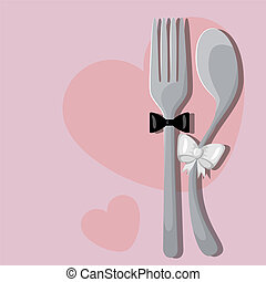 Wedding menu - Vector menu pattern with spoon and fork