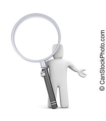 Character and magnify glass