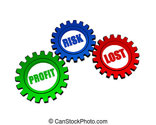 profit, risk, lost in color gears - profit, risk, lost -...