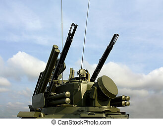 Weapons of anti-aircraft defense Tunguska - Tower of...