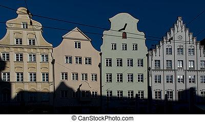 Medieval houses in Augsburg