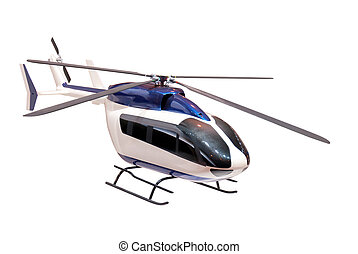 model of a helicopter on a white background