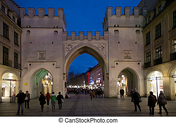 Karlstor in Munich - Karlstor, ancient Gate in the center of...