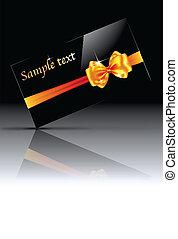 Glossy gift card